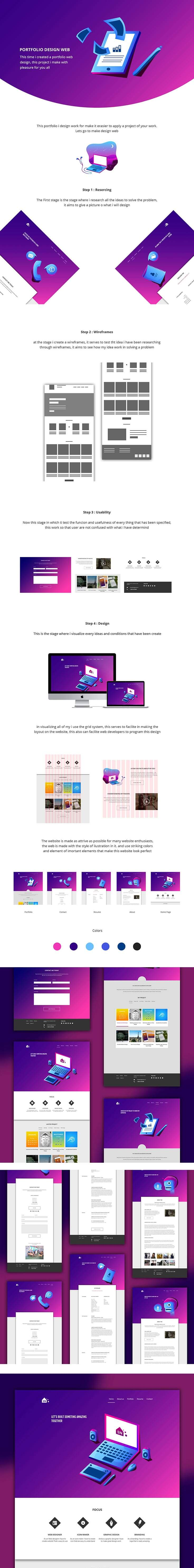 Free Portfolio Design Web Page PSD