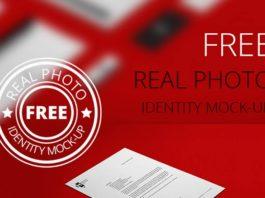 Free Real Photo Identity Mockup