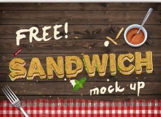 Free Sandwich Text Mockup