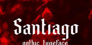 Free Santiago Gothic Blackletter Font
