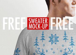 Free Sweater Mockup PSD