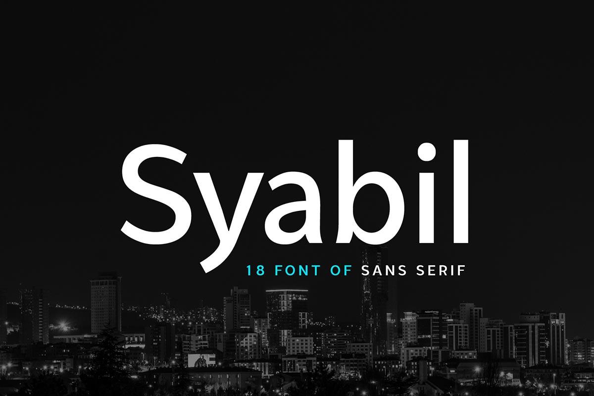 Free Syabil Demo Sans Serif Font