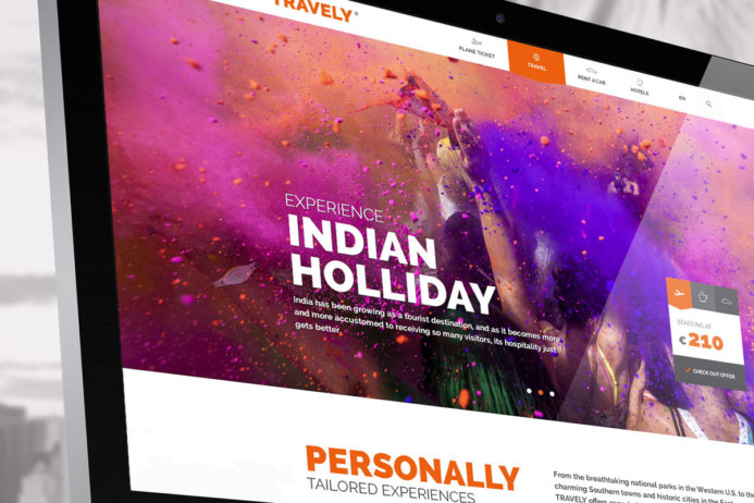 Free Travely PSD Template