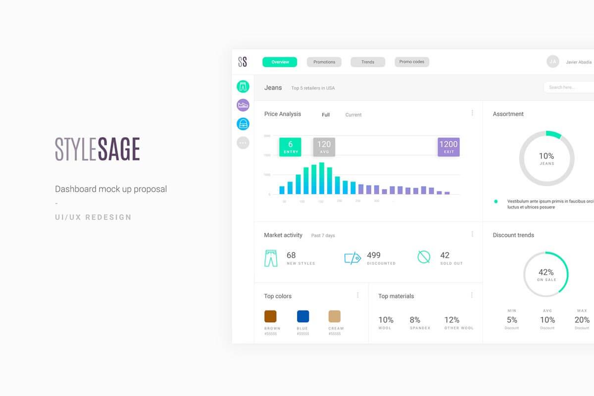Free Stylesage UI Dasboard Mockup