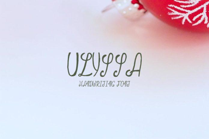 FreeUlyssa Demo HandwritingFont