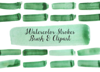 Free Watercolor Strokes Brush Cliparts