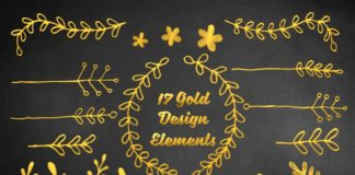 17 Free Gold Design Elements