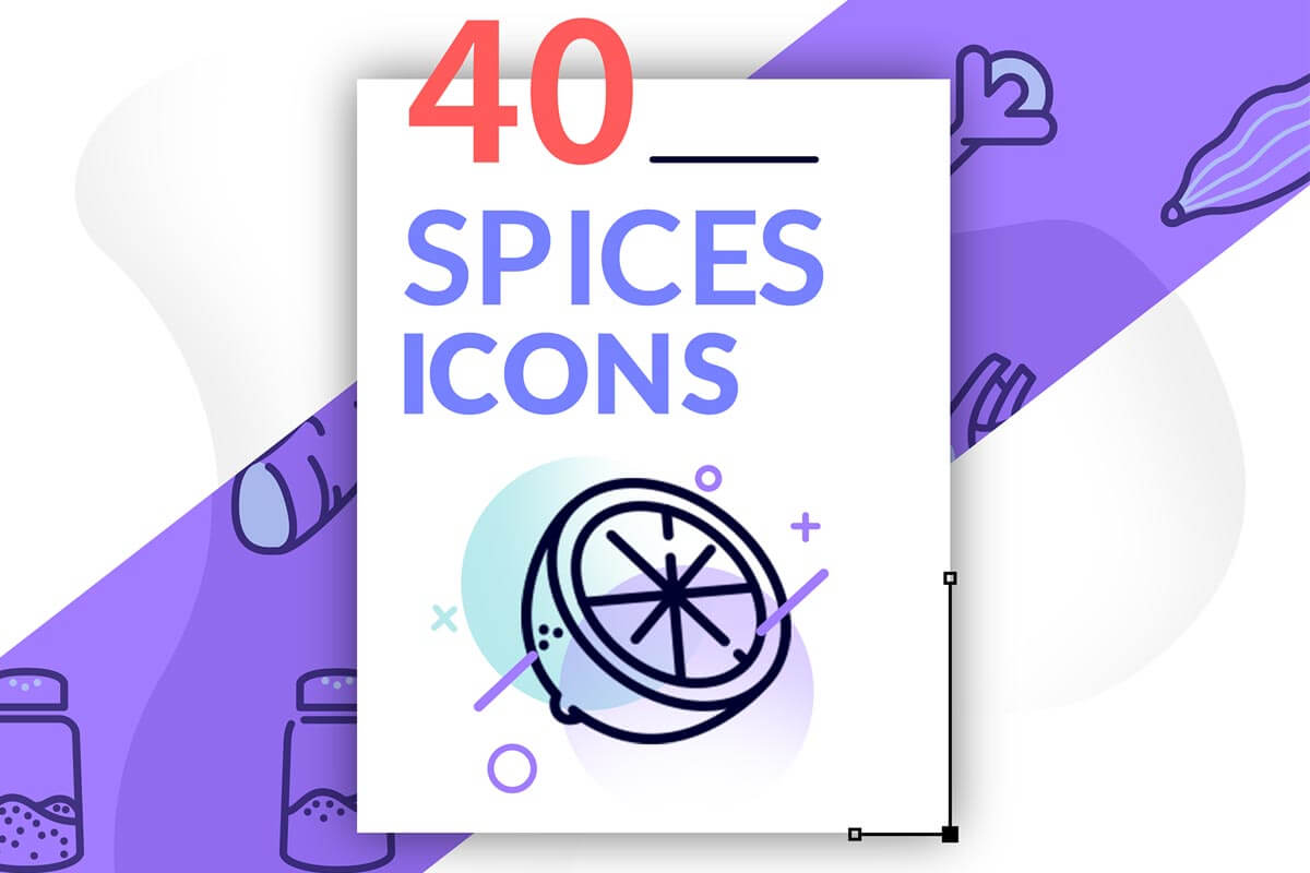 40 Free Spices Icons