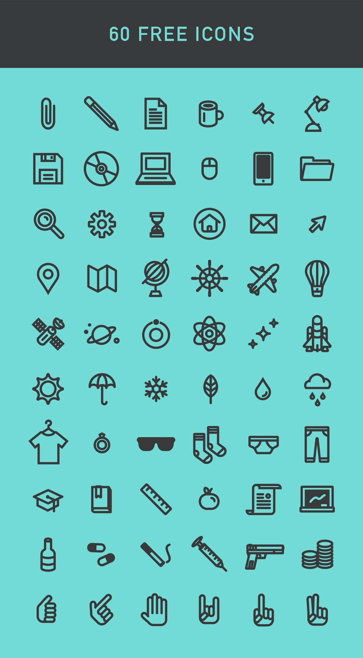 60 Free Vector Icons Pack