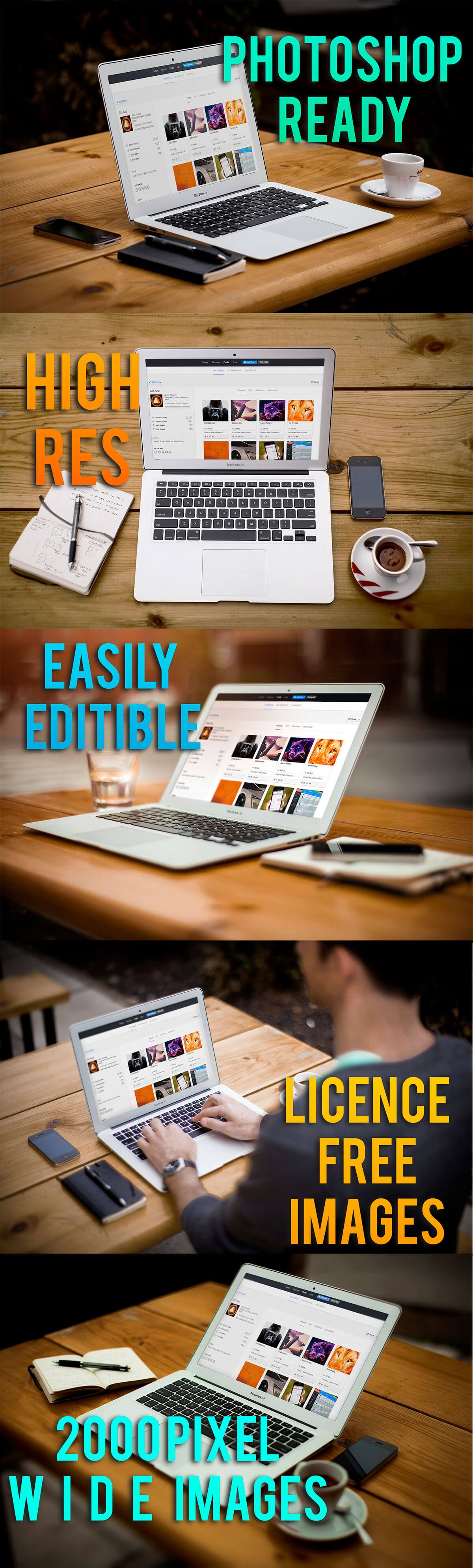 8 Free Laptop Mockup Collection