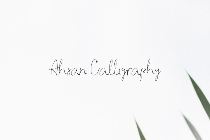Free Ahsan Calligraphy Script Font