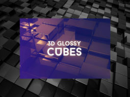 Free 3D Glossy Cubes Background Pack