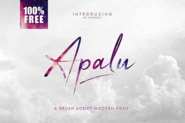Free Apalu Brush Script