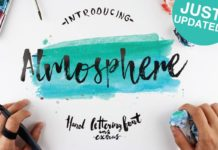 Free Atmosphere Brush Font