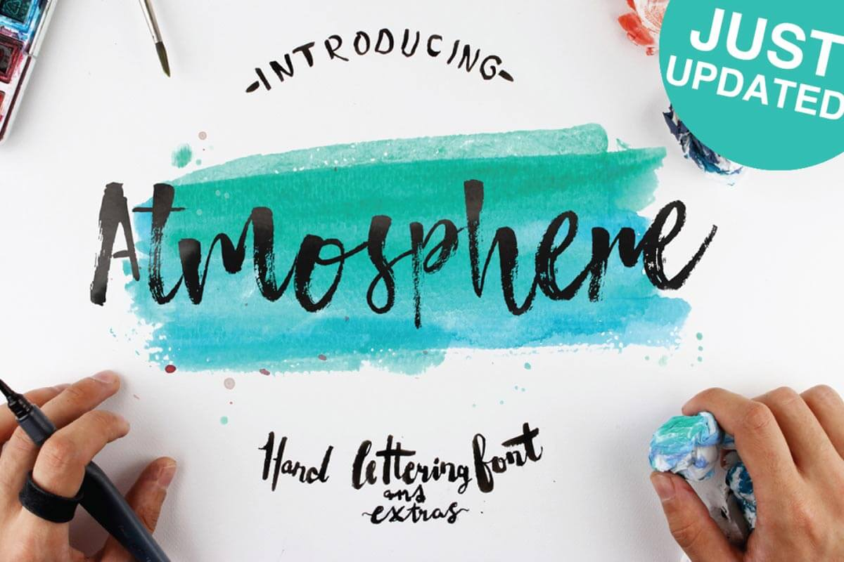 Free Atmosphere Brush Font