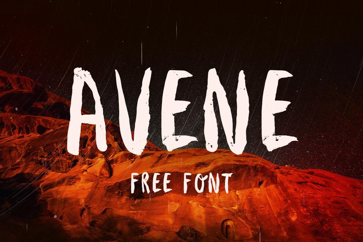 Free Avene Brush Font