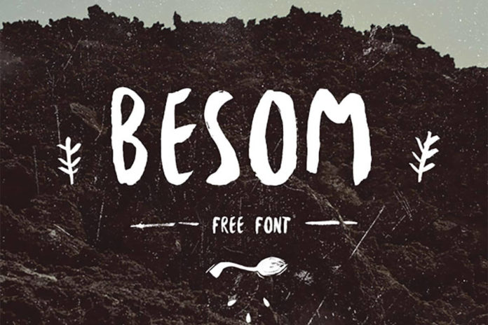 Free Besom Brush Font