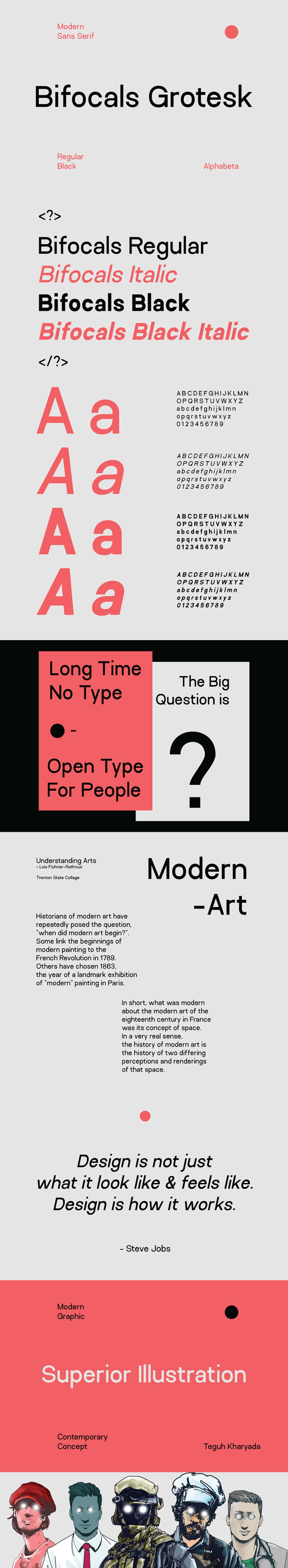Free Bifocals Modern Sans Serif Font
