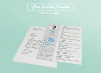 Free CV Resume PSD Template