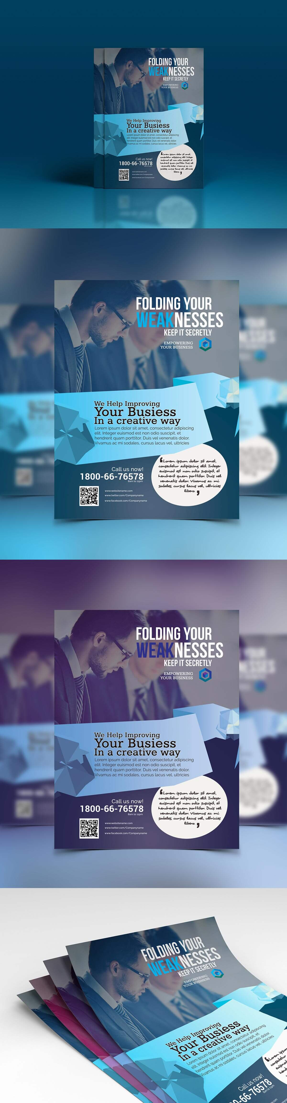 Free Clean Modern Corporate Flyer Ads