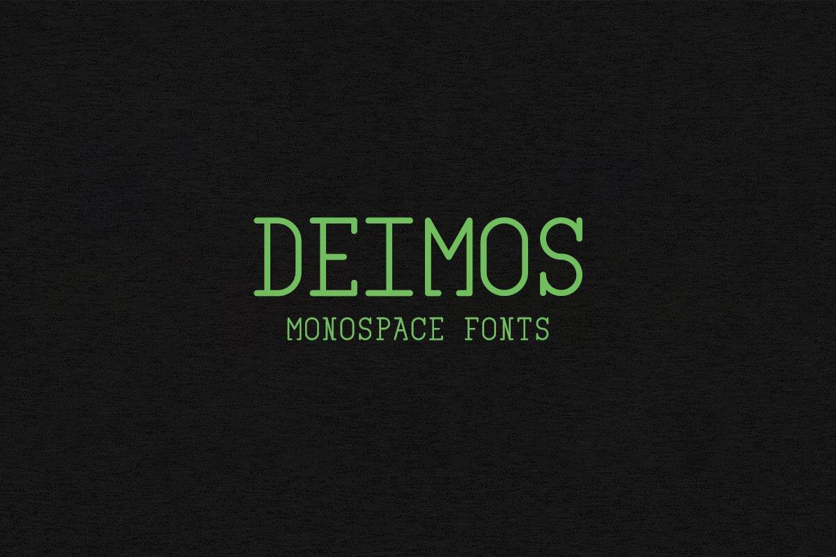 Free Deimos Monospace Font