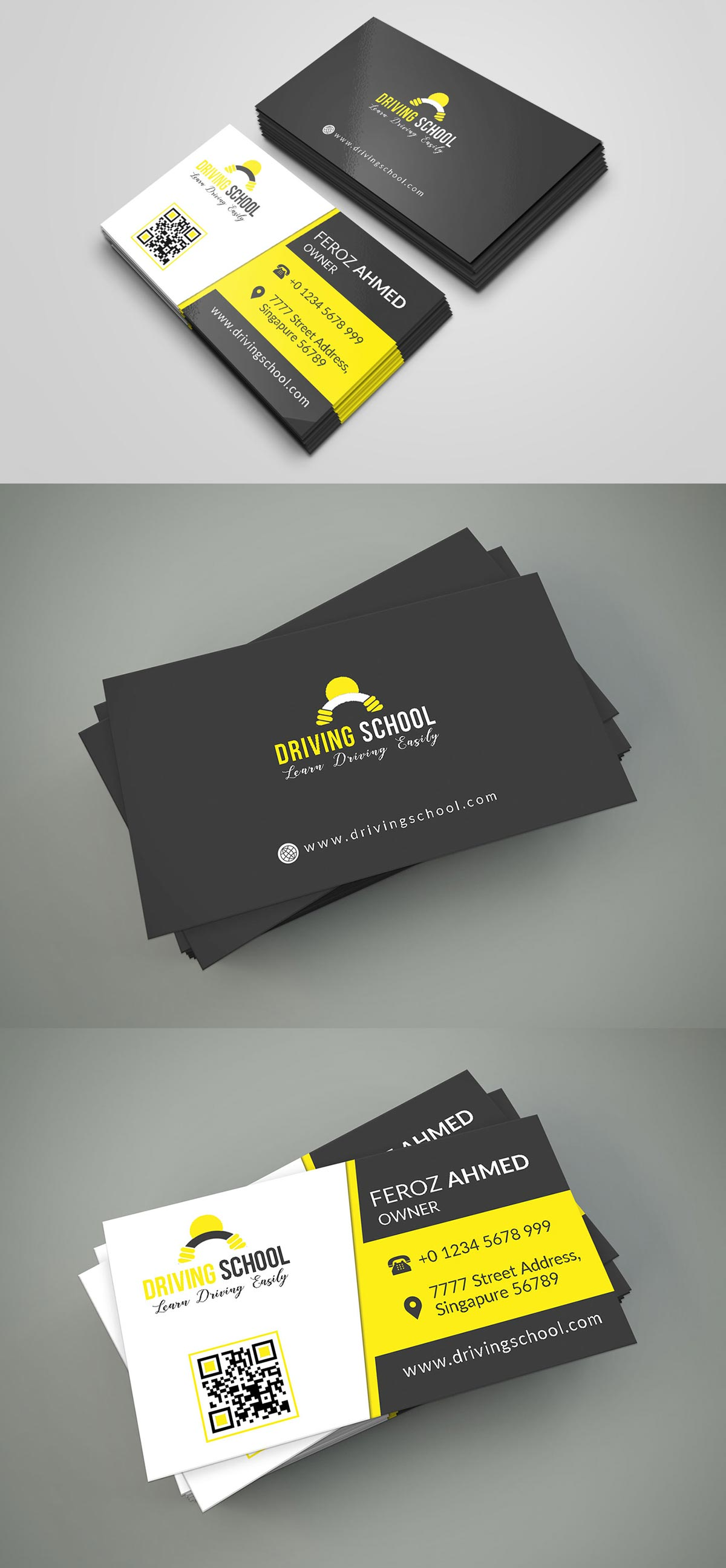 Free driving school business card psd template creativetacos free driving school business card psd template accmission