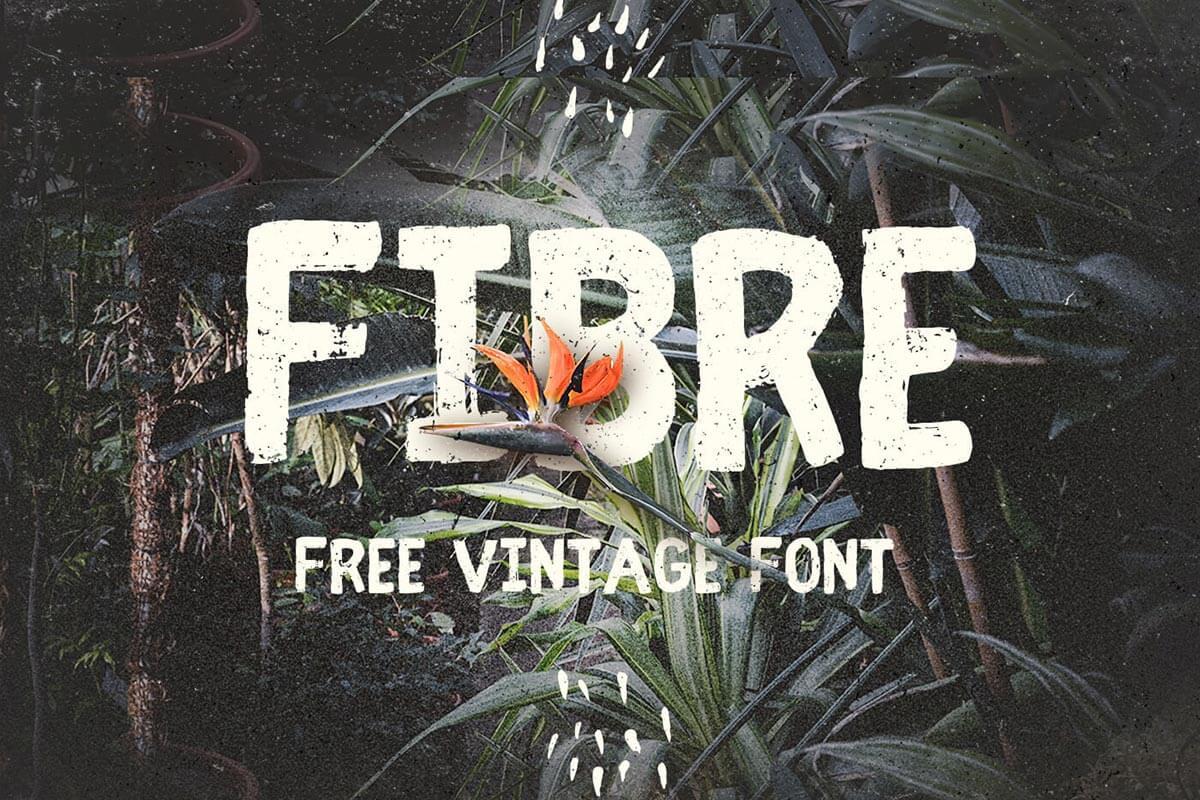 Free Fibre Vintage Font
