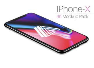 Free iPhone X 4K Mockup PSDs