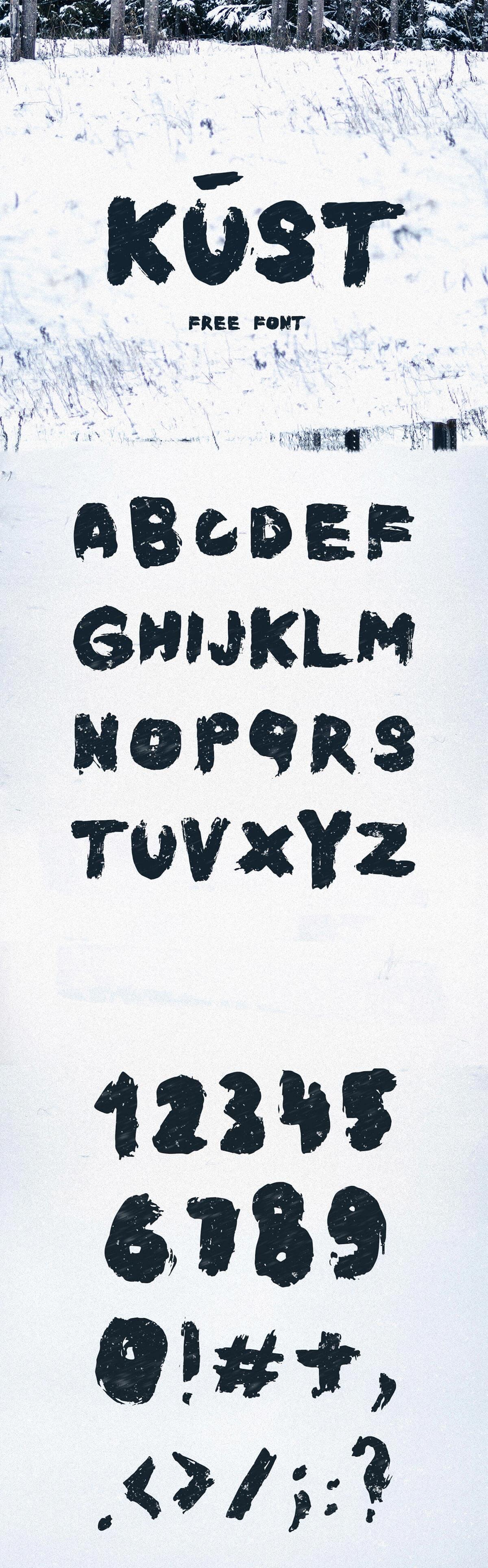 Free Kūst Brush Font