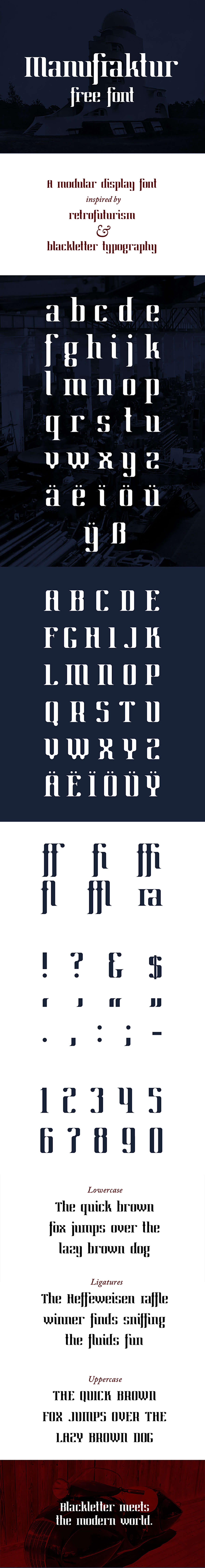 Free Manufraktur Display Font
