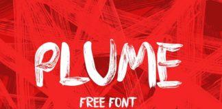 Free Plume Brush Font