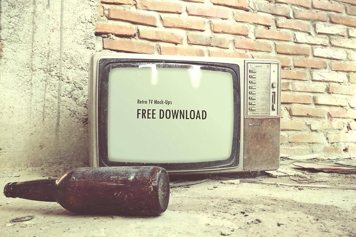 Free Retro TV Mockup