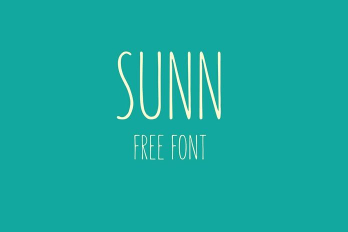 Free SUNN Handwriting Font