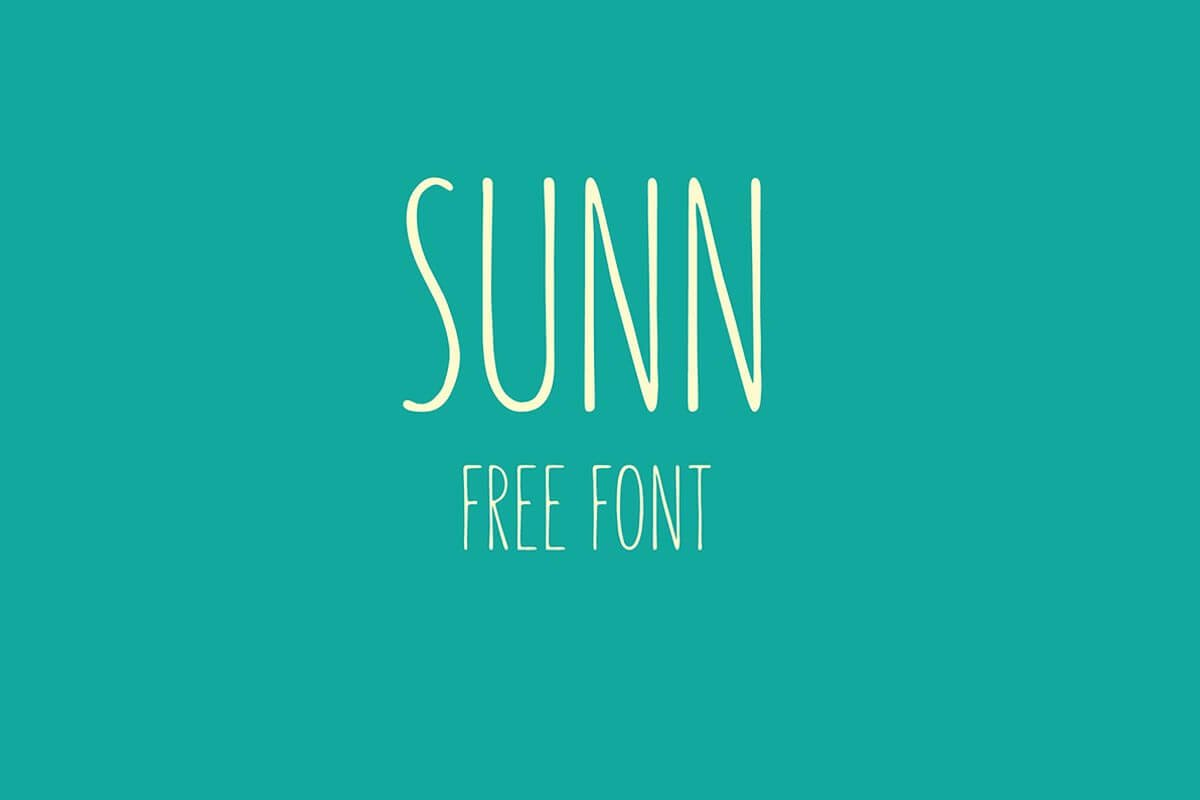 Free SUNN Handwriting Font