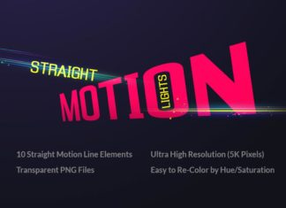 Free Straight Motion Lights Elements