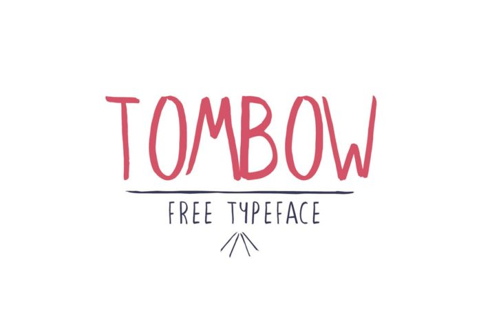 Free Tombow Handwriting Font