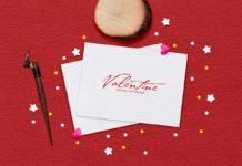 Free Valentine Greeting Card Mockup
