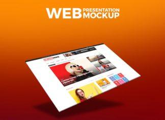 Free Web Presentation Mockup