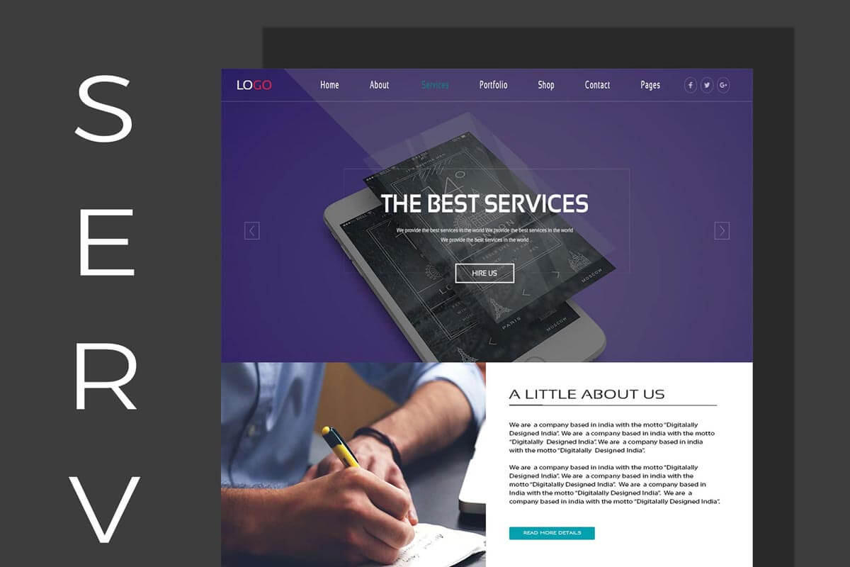 free web services website design ui psd creativetacos