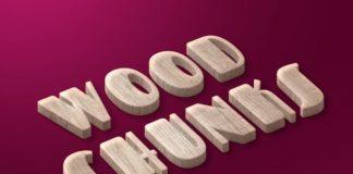 Free Wood Chunks Text Effect