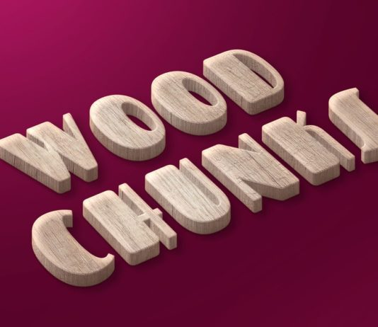 Free Wood Chunks Text Effect