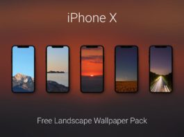 Free iPhone X Landscape Wallpaper Pack