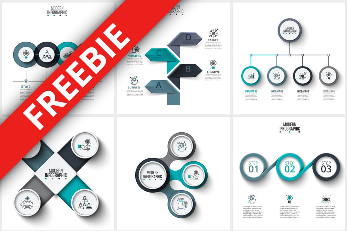 Infographics Templates Bundle Freebie Creativetacos