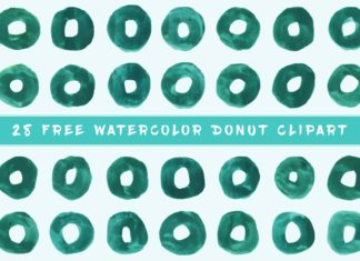 Free Donut Watercolor Clipart