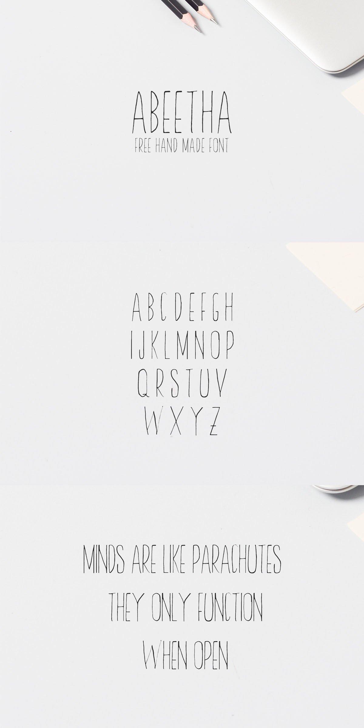 Free Abeetha Handmade Font