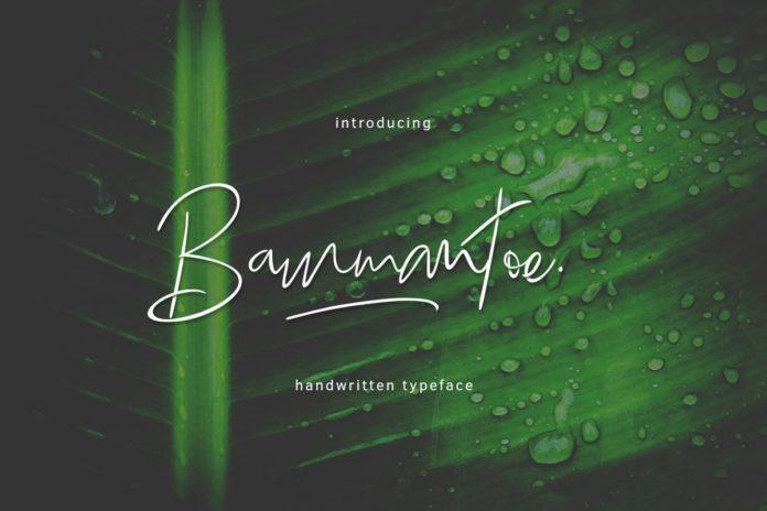 Free Bammantoe Handwritten Script Typeface