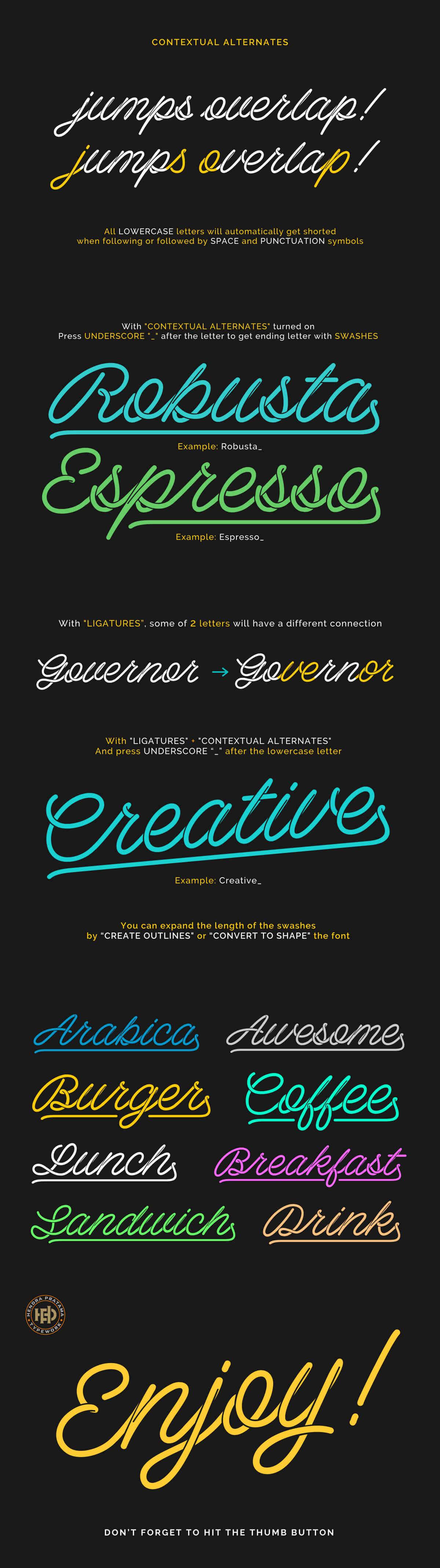 Free Barista Script Font - Creativetacos
