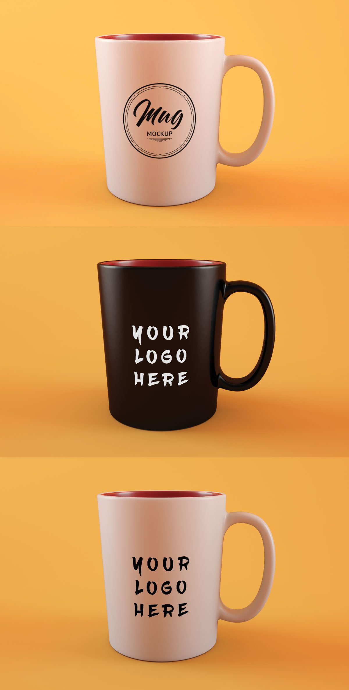 Free Clean Coffee Mug Mockup