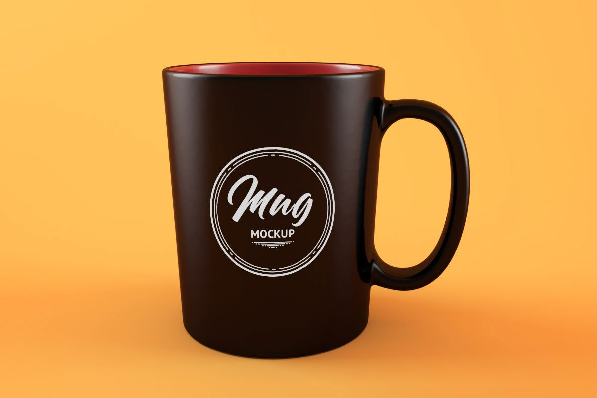 Free Clean Coffee Mug Mockup