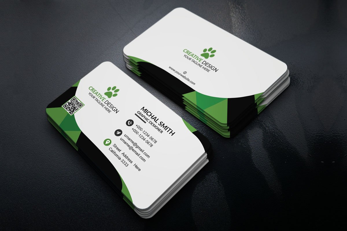 Free corporate business card template creativetacos free corporate business card template wajeb